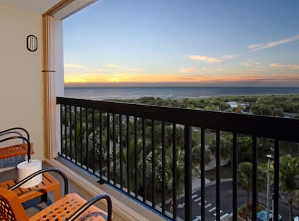 Guest Room Balcony and View of Ocean