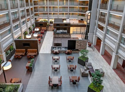 Overview of Breakfast Area in Atrium