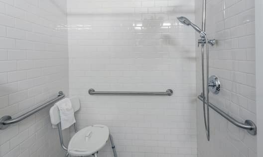 Roll-in Shower and bench