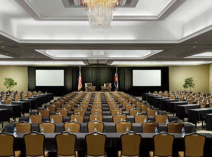 Hotel Ballroom with Classroom Setup