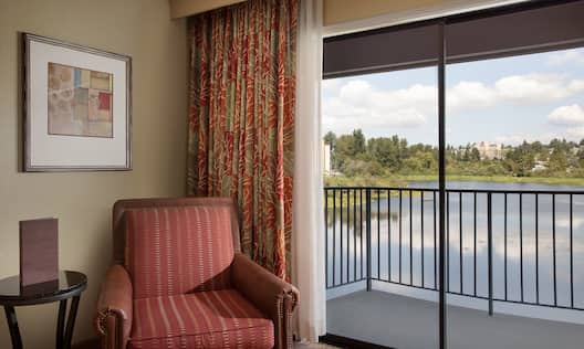 Balcony and Lake View in Guest Room