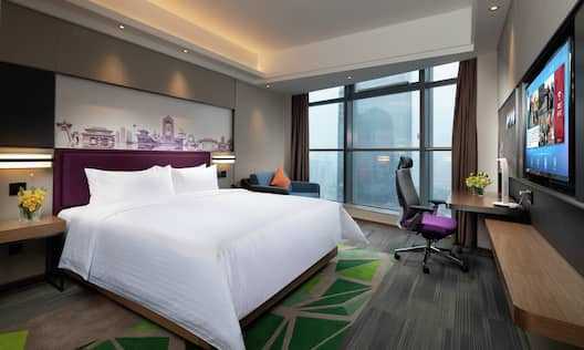 King Superior Deluxe Room with River View, work desk and TV