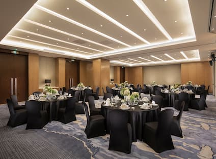 Tianfu Meeting Room with Round Banquet Tables