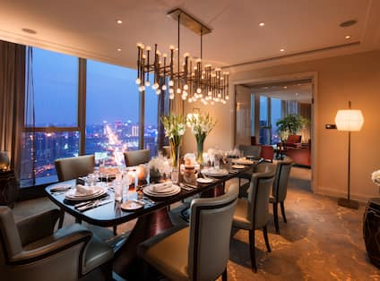 Presidential Suite Dining Room with Table and Armchairs