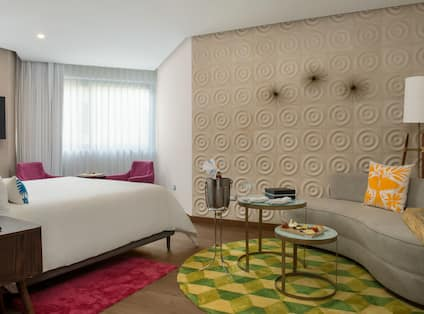 Room with Bed and Couch