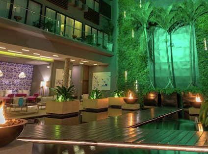 Lobby Vertical Garden with Palm Trees
