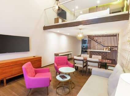 Living Area and Loft in King Mezzanine Room