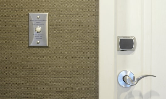 Accessible Guest Room with Audio and Visual Alert System