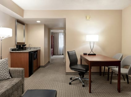 Accessible Guestroom with Lounge Area and Work Desk
