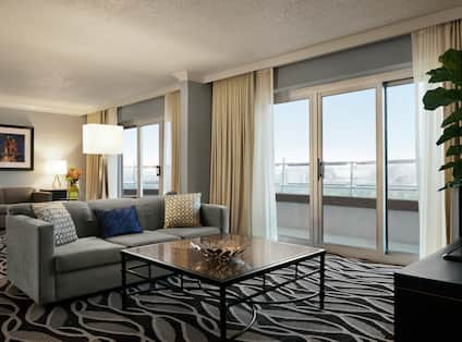 Presidential Suite with Outside View and Lounge Area