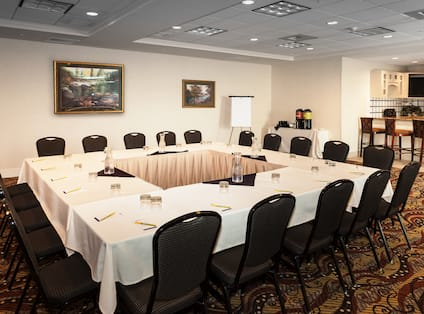 Meeting Room Square Table Set-Up