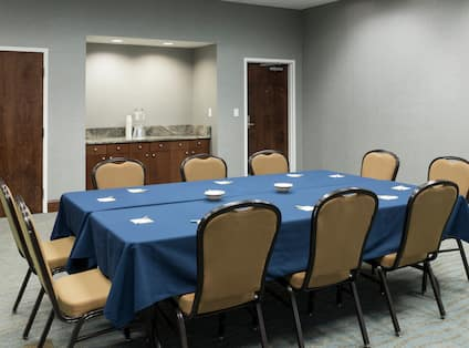 Boardroom with Chairs, Meeting Table and Counter