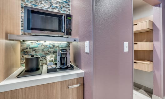 Microwave and coffee making facilities