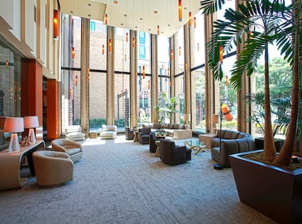 Hotel Lounge & Seating Area