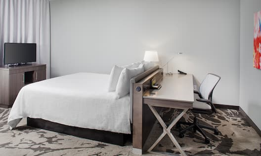 King Bed, Work Desk and TV