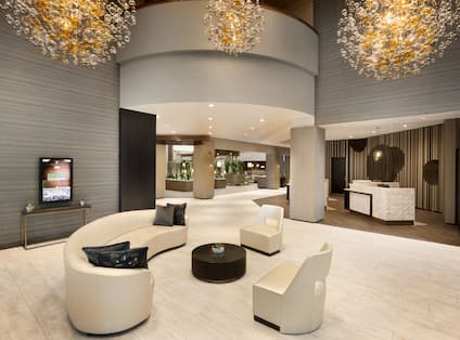 Lobby Seating Area with Chairs and Sofa