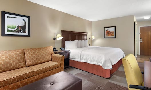 King Bed and Sofa in Guest Room