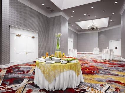 Ballroom Gallery Table Set Up