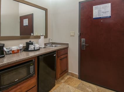 Studio Suite Wetbar with Sink, Microwave and Mini Refrigerator