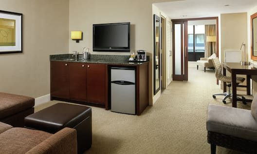 Two Room Suite with Wet Bar and Lounge Area