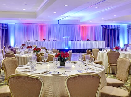 Ballroom Banquet With Head Table