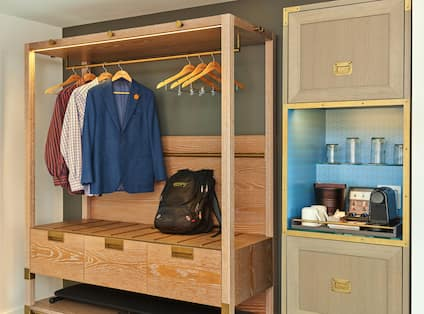 Wardrobe Storage and Coffee in Guest Room
