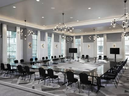 Conference and Meeting Space with Room Technology and Furniture