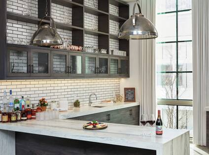 Kitchen with Food and Beverage Space
