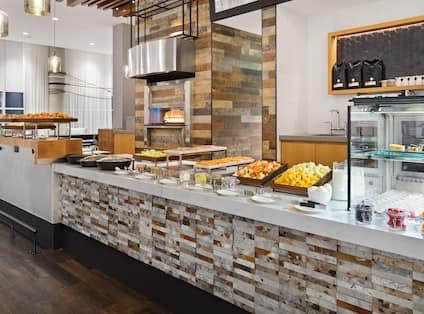 Breakfast Buffet Food Serving Area