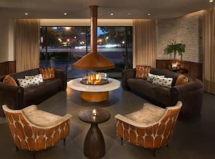 Indoor Seating Area with Fire Pit