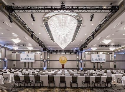 Presidential Ballroom setup as a classroom