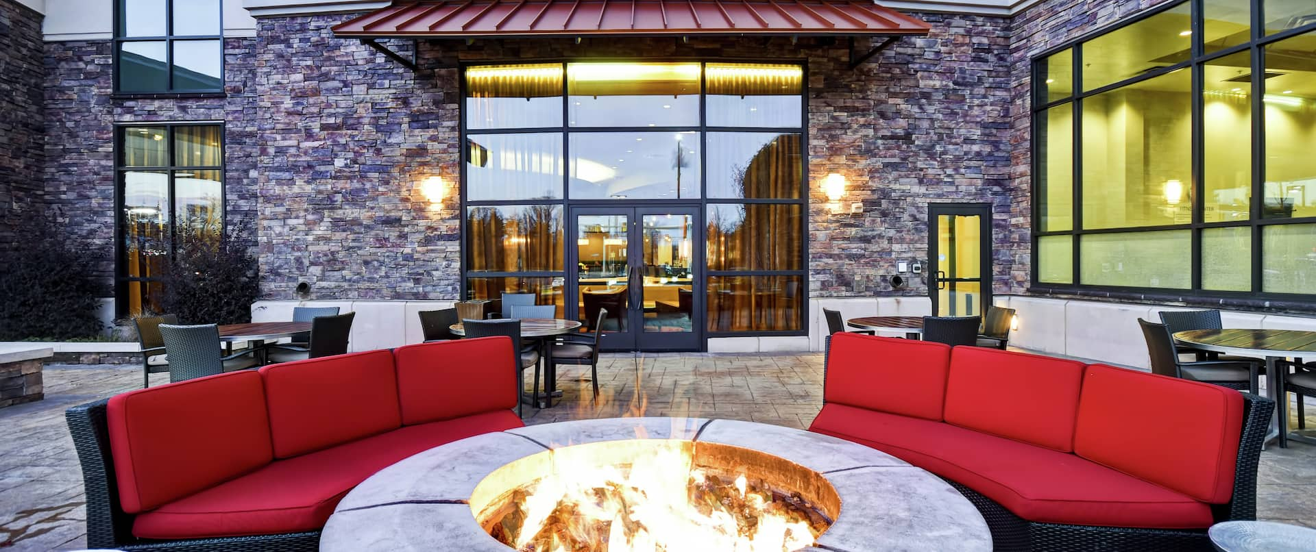 Crossroads Restaurant Outdoor Seating and Fire Pit