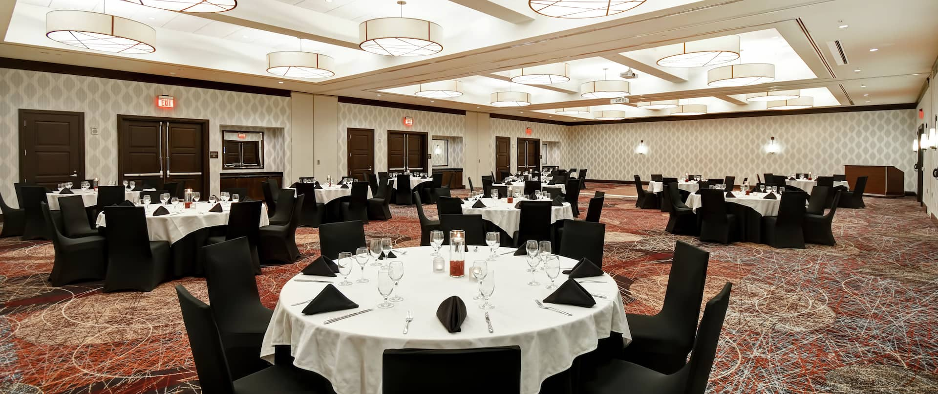 Hunter Ballroom with Round Banquet Tables