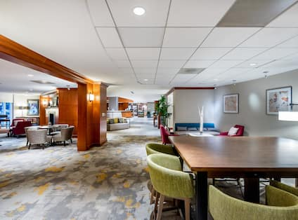 Lobby Seating Area with Chairs and Table