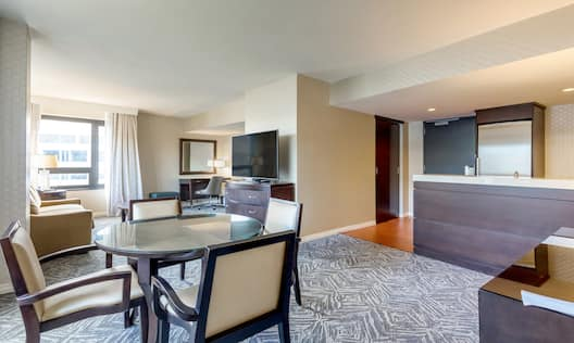 Suite Dining Room And Lounge Area