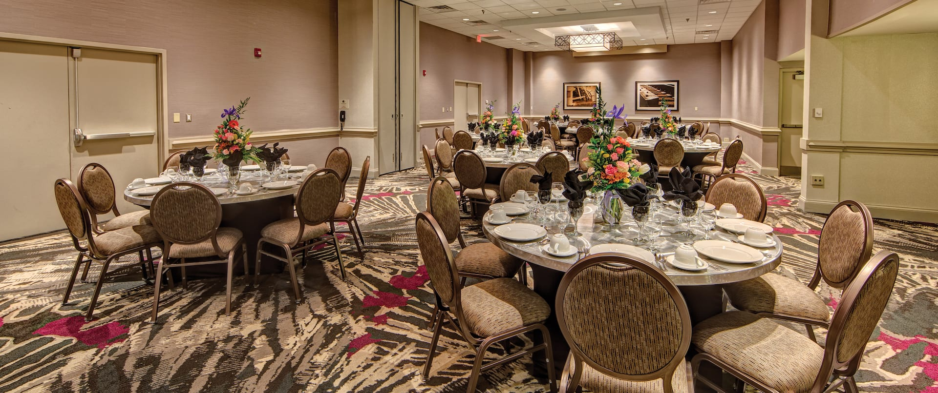 Ballroom With Event Set Up