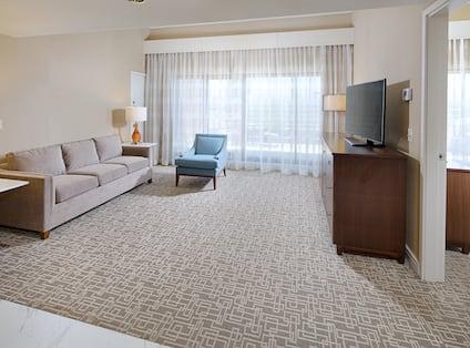 One King Bed One Bedroom Corner Suite