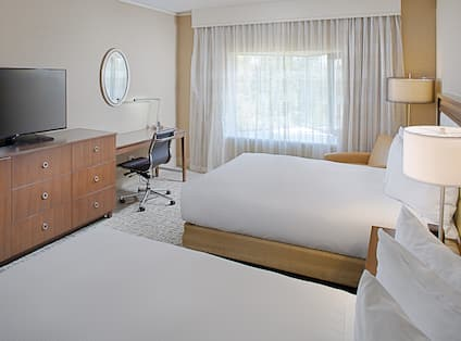 Two Double Beds Guest Room View