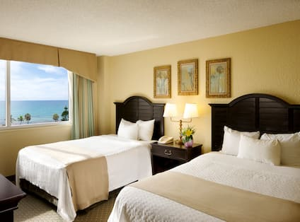 Oceanfront Two Double Beds