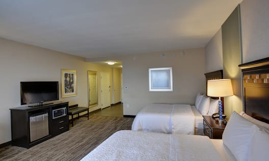 Guestroom with Double Queen Beds and Room Technology