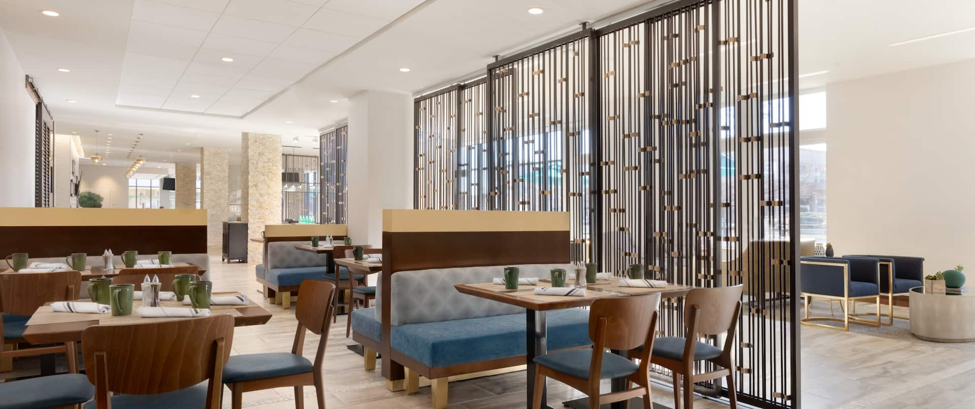 Breakfast Dining Area with Chairs and Tables