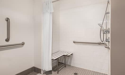 Accessible Guestroom Bathroom with Roll-in Shower