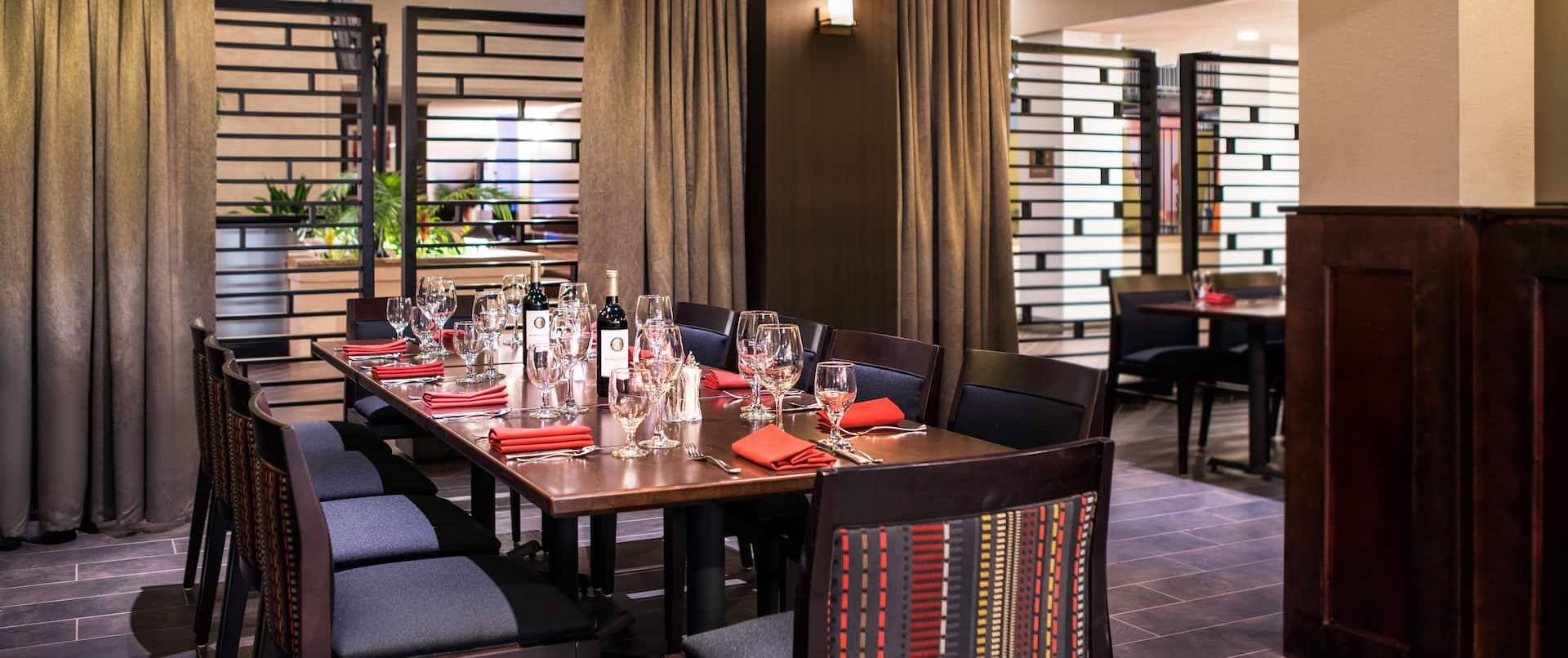 Private Dining Area At Zink's Kitchen+Bar