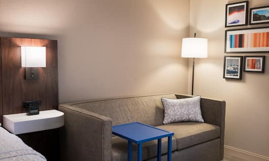 Guestroom with Bed and Sofa