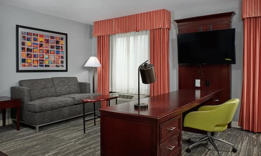 Desk and Lounge Area