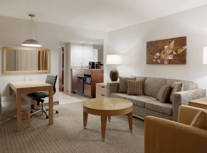 Double Bed Suite Living Area