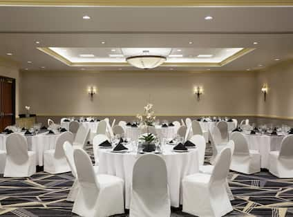 Meeting Room Set For a Banquet
