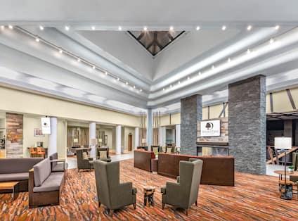 Hotel Lobby Area with Seats