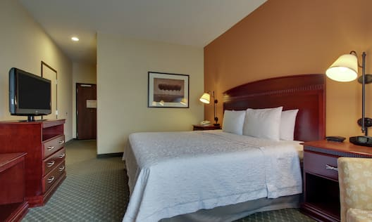 Accessible Single King Mobility Room With TV
