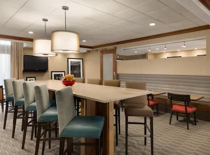Lobby Seating Area with Communal Table